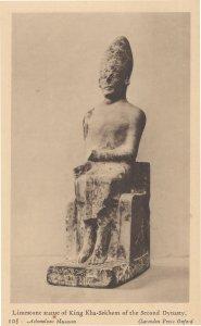 Limestone Statue Of King Kha-Sekhem Second Dynasty Old Postcard