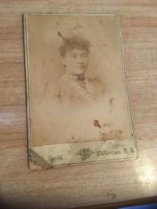 Vintage Photo -  Woman Portrait, Banta Studio, Watertown NY late 1800s