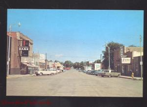 LIMON COLORADO DOWNTOWN MAIN STREET SCENE 1960's CARS VINTAGE POSTCARD
