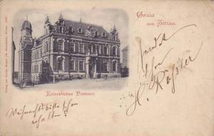 Kaiserliches Postamt, Gruss Aus Zittau (Saxony), Germany, PU-1901