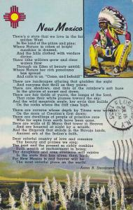 Native American from New Mexico, Poem by Anne B. Stevenson, PU-1955