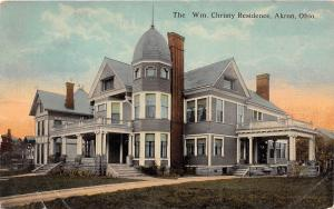 D31/ Akron Ohio Postcard Summit County 1912 William Christy Residence