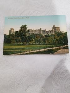 Antique Postcard, Windsor Castle from Home Park. Unposted
