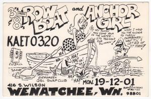 QSL, KAET0320, Wenatchee, Washington, 1977