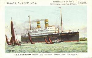 Holland America Line Steamer T.S.S. Veendam (1930s) II