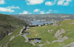 View From Signal Hill: Queen's Battery In Foreground, St. John´s, Newfoundla...