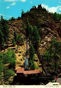 Colorado Colorado Springs South Cheyenne Canon Incline Cable Car To Eagles Ne...