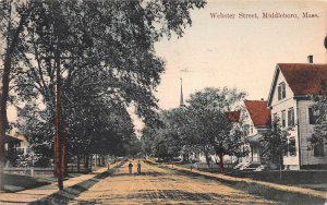 Webster Street, Middleboro,Massachusetts, Early Postcard, Used in 1911