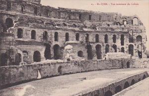 Tunisia El-Djem Thysdrus Vue interieure du Colisee