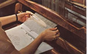 KENTUCKY Crafts, Finger Weaving, Hand weaving a towel, Berea College, 40-60s