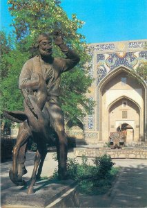 Postcard Uzbekistan Bukhara monument statue Nasr-ad-Din