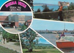Buena Vista Motor Inn Geelong Australian Map Postcard