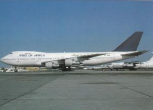 SPIRIT OF AFRICA AIRLINES, Boeing 747-246B, unused Postcard