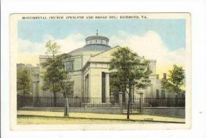 Monumental Church (Twelfth & Broad Sts.), Richmond, Virginia, 1900-1910s