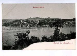 190687 TURKEY CONSTANTINOPLE Roumeli-Hissar Vintage postcard