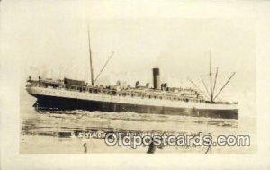 Real photo, SS Yukon AT Columbia Glacier, Alaska, AK USA Steam Ship Unused li...