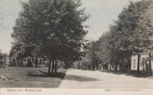 Residences, Tree-Lined Central Avenue, Bluffton, Indiana, 1910