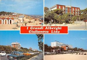 Italy Giulianova Lido (Teramo) I Grandi Alberghi Plage Promenade Cars