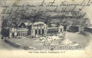 New Union Station, Washington DC, District of Columbia, USA Depot Postcard, R...
