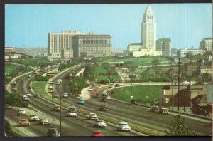 California LOS ANGELES Hollywood Freeway looking towards Civic Center cars - C