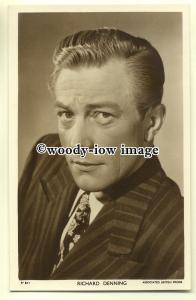b2479 - Film Actor - Richard Denning - Picturegoer postcard W629