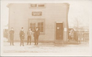 Hazelton BC Government Telegraph Office Men & Boy WW Wrathall RPPC Postcard G73