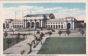 Washington DC Union Station Columbus Memorial Fountain