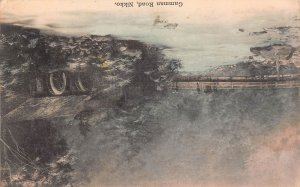 Gamman Road, Nikko, Japan, Early Hand Colored Postcard, Used in 1910