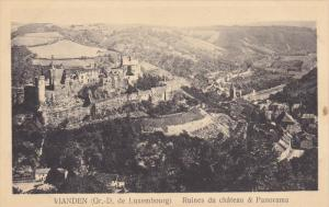 VIANDEN , Luxembourg , Ruines du Chateau & Panorama , 1920-30s