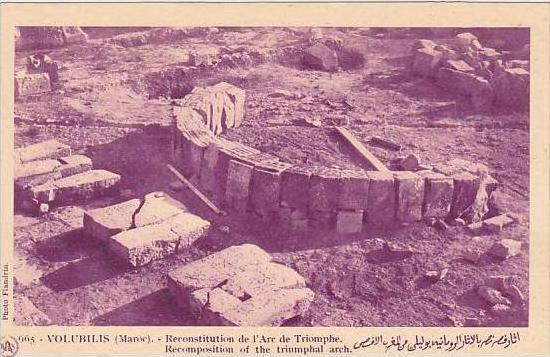 Morocco Volubilis Recomposition of the Triumphal Arch 1920s-30s