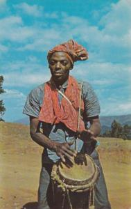 Haitian Drummer from Furcy (5000 ft.) Haiti, West Indies, 40-60s(2)