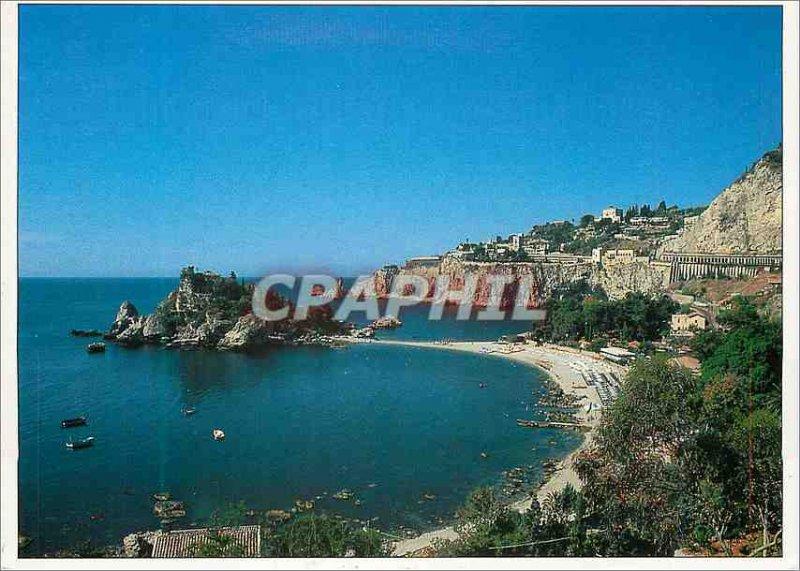 Modern Postcard Isola Bella Taormina