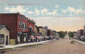 New York Perry Main Street Looking South