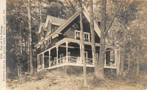 F21/ Center Lovell Maine RPPC Postcard 1911 Brown's Camp Cottage
