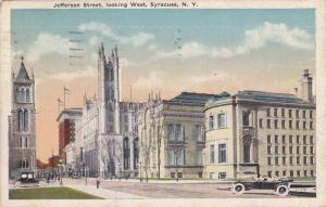 Jefferson Street, looking West, Syracuse, New York, PU-1919