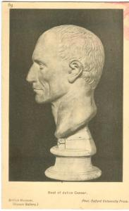 Bust of Julius Caesar, in British Museum, early 1900s unused