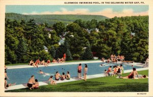 Pennsylvania Delaware Water Gap Glenwood Swimming Pool Curteich