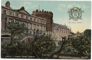 Castle & Chapel Royal, Dublin, used Postcard