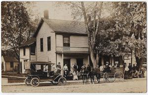Miltonvale KS RPPC 1910 Hotel Early Model T Car Worcester MA Real Photo Postcard