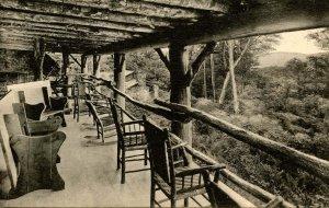 VT - Rutland. Killington Section, Long Trail. Long Trail Lodge, Veranda