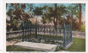 Utah Salt Lake City Brigham Young's Grave Curteich