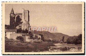 Old Postcard The Chateau de Chateaubourg sur Rhone (Ardeche) or King St Louis...