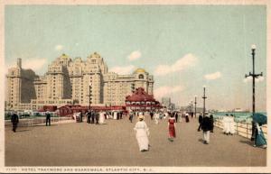 New Jersey Atlantic City Hotel Traymore and Boardwalk Detroit Publishing