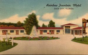 Florida Dade City Rainbow Fountain Motel 1953