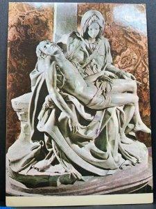 Vintage Postcard Rome La Pieta Michelangelo Basica 1981