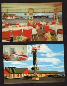 QC Lot 2 Zenith Motel Ste Anne de Beaupre Quebec Canada Carte Postale Postcards