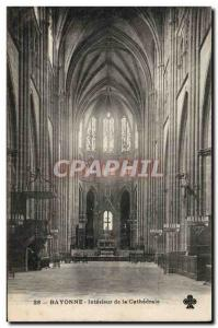 Bayonne Old Postcard Interior of the cathedral
