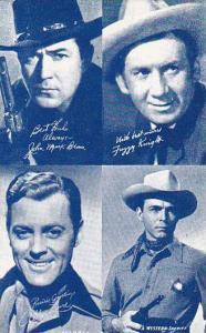 Cowboy Arcade Card JohnBrown Fuzzy White Allan Lane & A Western Sheriff