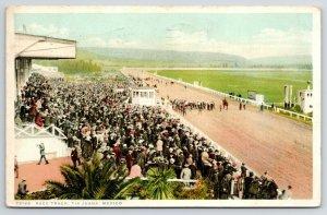 Tijuana Mexico~Detroit Publishing #72188~Horse Racetrack~Full Grandstands c1910