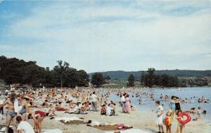 Shellsburg Pennsylvania~Shawnee State Park~Crowd @ Beach~Bedford County~1960s Pc